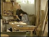 Sarah Young fucks in workshop