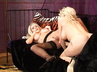British lesbians Frankie and Lucy in stockings