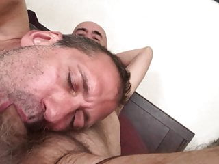 Sucking Daddy Dick to make him smile