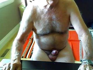 Big dicked dad wanking 003