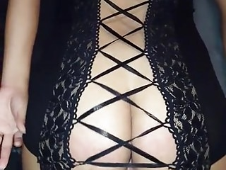 Hot ass wife fucking in sexy lingerie...