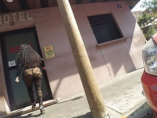 in streets Booty escort stokings Big