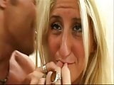 BLONDE THREESOME PAINFULL ANAL