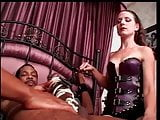 Black guy with huge cock is bound to bed