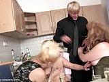 Boy fucks granny and her friends