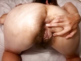 Hairy Mature Mom posing on cam! Amateur!