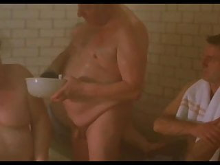 Old man movie sauna scene...