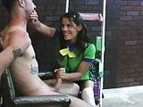Girl scout gives handjob