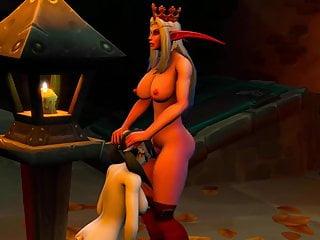 Night Elf Throatfucks Draenei Slut