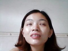 Pretty Chinese MILF laptop hacked fuck