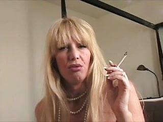 Mom Smokes Cork In Bathroom