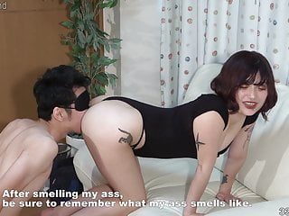 Japanese Femdom Slave video: Japanese Girl makes a man remember the smell of her ass hole