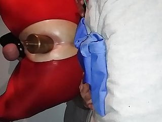 Spandex anal training 2...