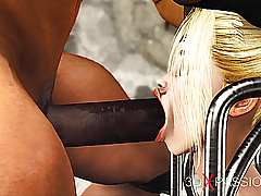 Cuffed college girls in restraints get fucked by a big cock