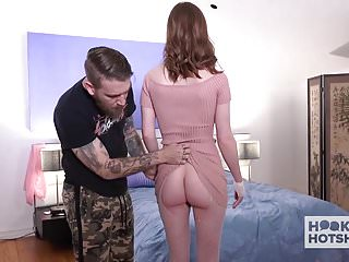 Sexy redhead asshole blown out by guy she...