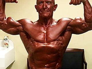 Mature Bodybuilding Grandpa Daddy Bernie Cooper Solo Shots.