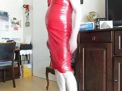 White Stockings,Red Skirt