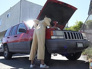 Stuck Fetish Labor Day - Viva Athena gets stuck in a truck