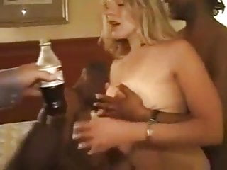 white wife being shared with two black dicks - interracial