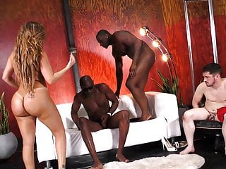 Richelle ryan rides bbc in front of a...