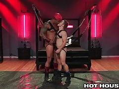 Big Black Dick & Big White Dick In Rough BDSM Daddy Fetish