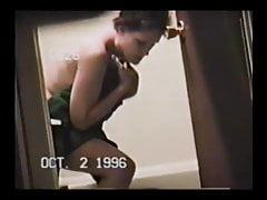 Horny slut teacher Mrs. Zuber in the shower 2