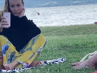 Candid delicious feet of two stunning hungarian babes summer