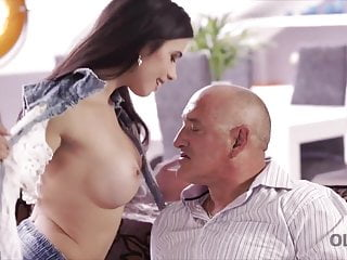 Mature man was very happy to have with...