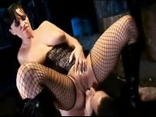 British tattoed slut fucked in a kinky FFM threesome