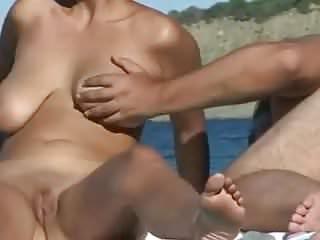 Schwanz Lutschen am Strand