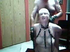 slave sue palmer gets her tits whipped and rides cock