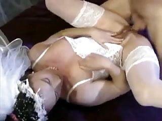 Bride fisting hairy pierced pussy...