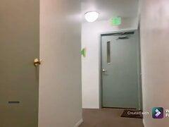 Almost Caught Public Masturbation & Cum in Apartment Hallway