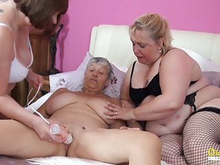 Oldnanny three british matures lesbian party...