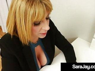 Mature Boss Lady Sara Jay Takes Big Latino Employee Cock!