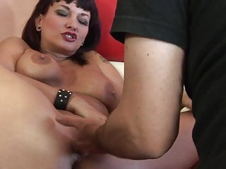 Hot MILF Carrie Ann has cum dripping down her mouth