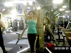50+ Cougar Getting Slinked In The Gym