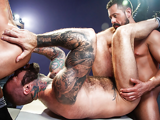And studs in a hot gay threesome...