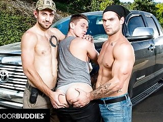 Nextdoorbuddies muscle hitchhiker...