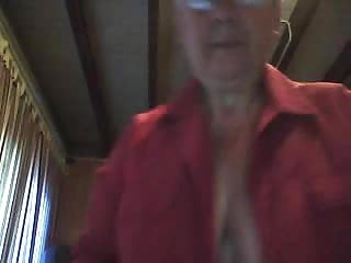 Grandma shows boobs on cam...