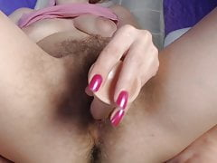 Redhead Unshaved Female Frolicking Home Alone