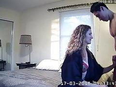 Husband Caught His Milf Wife Fucking With Young Guy Spycam