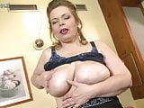Big mother with big saggy boobs and hungry cunt