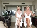 Two mature lady upskirt nipples and crossed legs one video