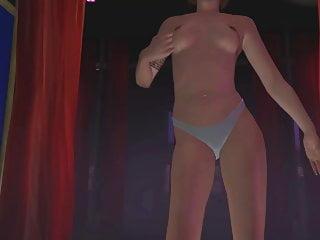 GTA Online Protagonist Cop cosplay strip show