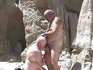 Two mature grandpa playing with each other...