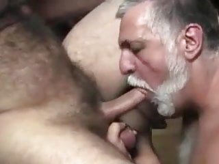 Sweet nipple daddy sucked by handsome mustache...