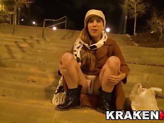 Krakenhot public provocation in homemade casting...