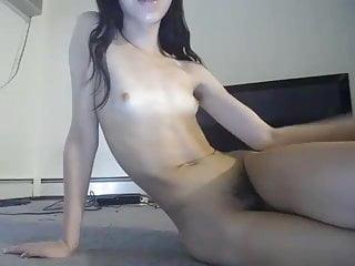 Skinny shy t girl with a tiny clytoris...