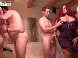 FunMovies Chubby German amateur slut and girlfriend gangbang
